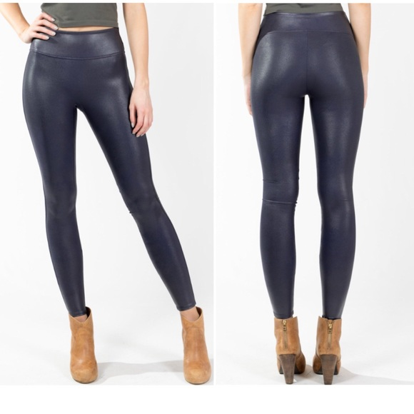 191a73e44f81e SPANX Faux Leather Leggings Midnight Navy Blue. M_5b4f7f60c2e88e84c864bdbd